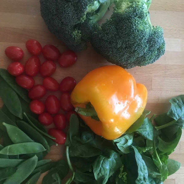 Healthy, colourful vegetables for a healthy frittata meal