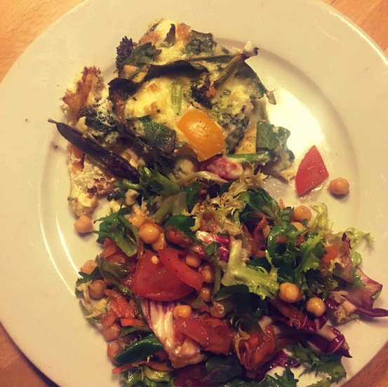 Leftover frittata healthy meal