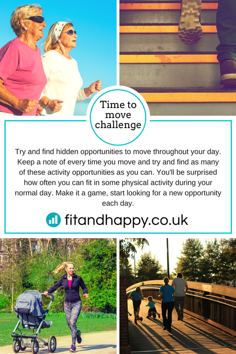 Pictures of people of all ages moving on a daily basis - jogging, running, walking, out with family.  By Fit & Happy Personal Training Edinburgh