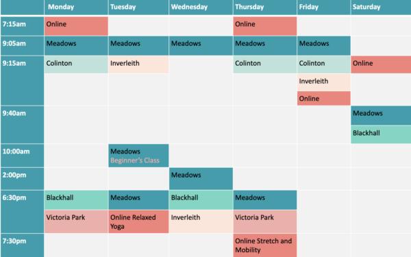 Boot Camp Schedule
