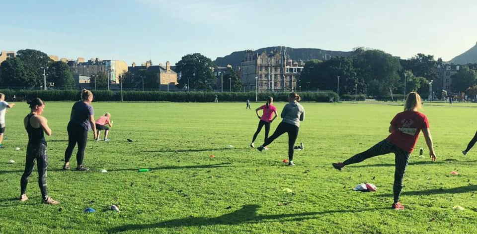 Autumn outdoor boot camp at The Meadows, Edinburgh