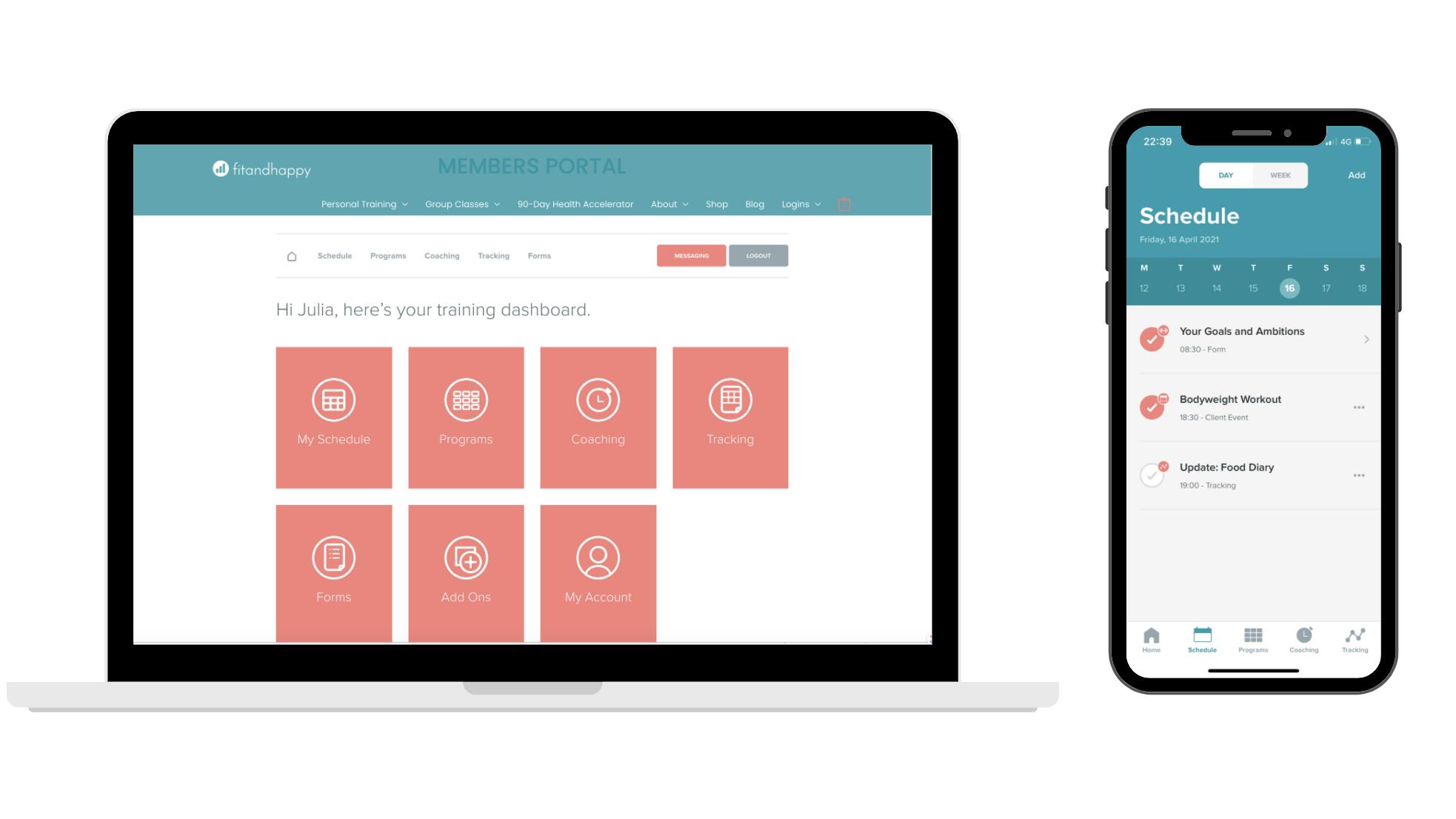 online personal training portal
