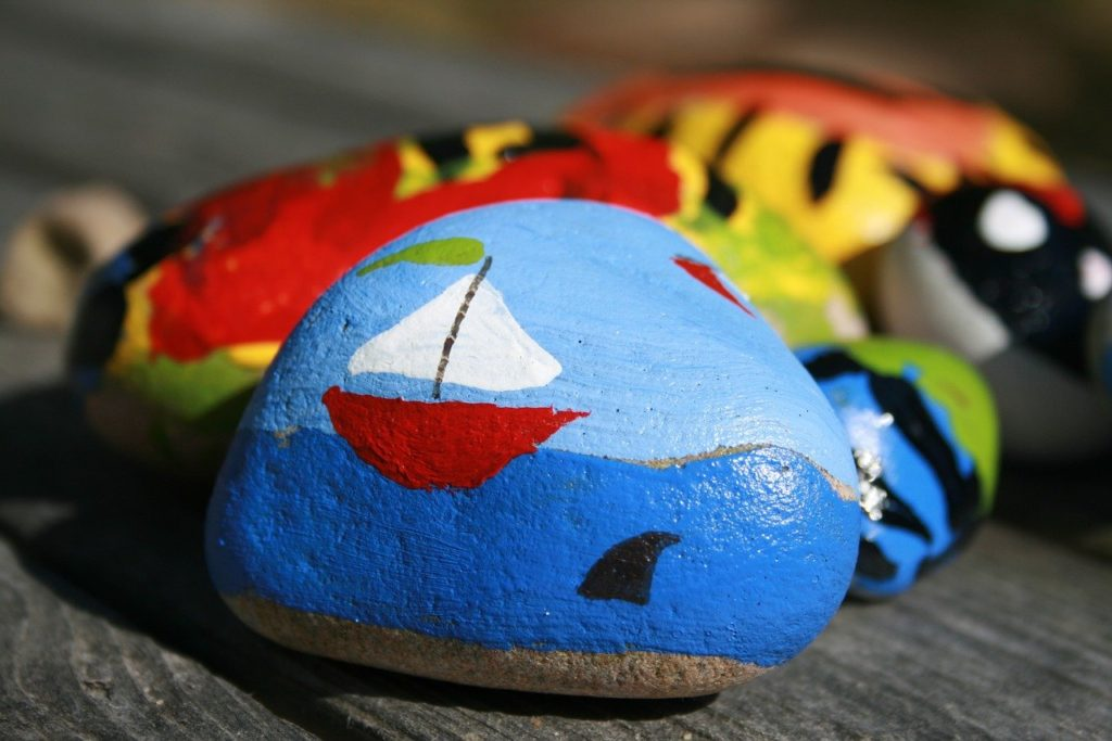 paint, rock, drawing