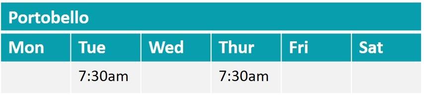 Portobello boot camp timetable for ladies
